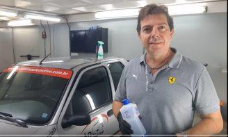 Higienização interna do veículo